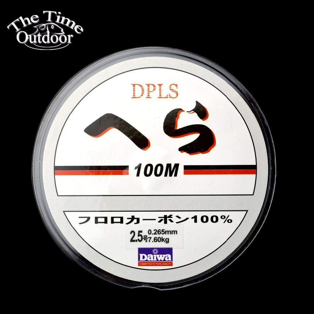 Olta marka süper güçlü japon 100m karbon Fiber lider naylon şeffaf olta olta takımı