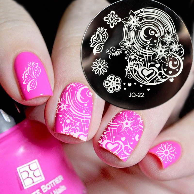New Jq Designs Nail Art Image Stamp Stamping Plates Manicure