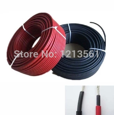 Free Shipping MC4 Black Red PV Solar Cable 4mm2 Used to Off grid and Grid Connected