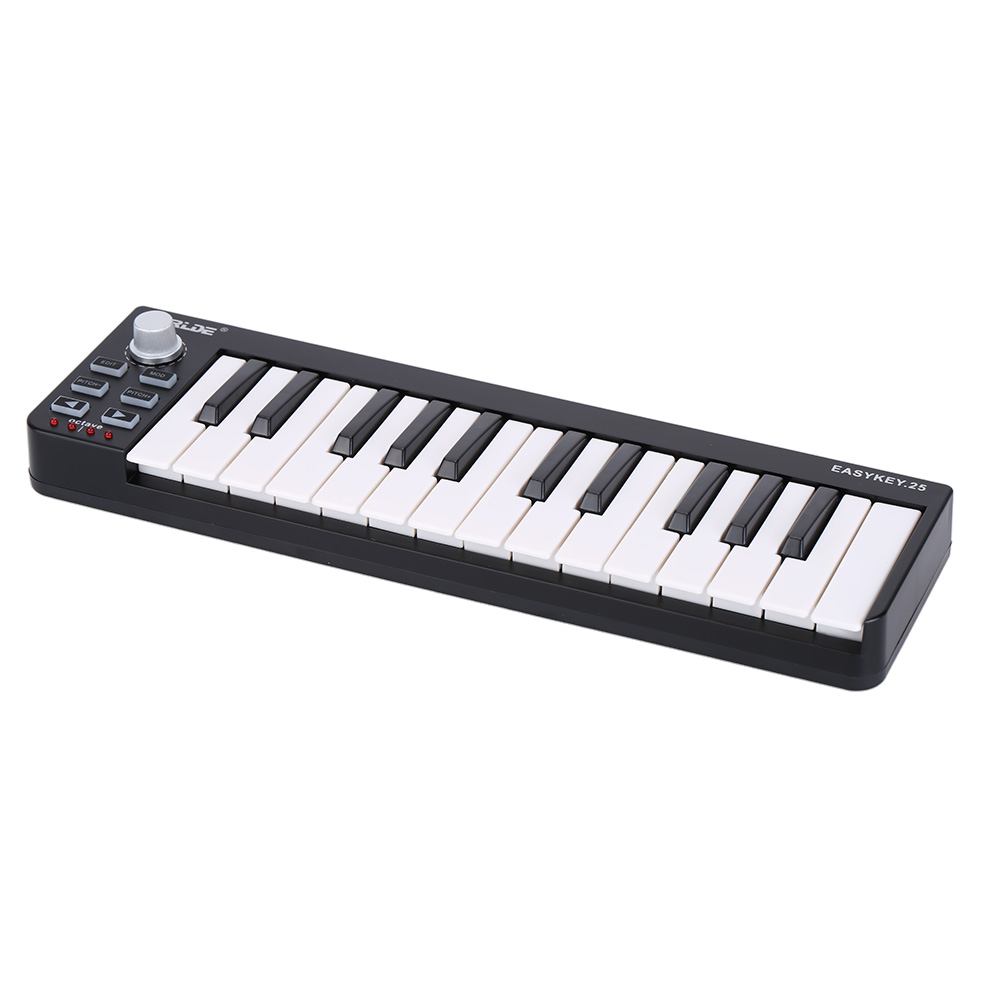 high quality easy portable mini 25 key usb midi keyboard controller 25 velocity sensitive mini. Black Bedroom Furniture Sets. Home Design Ideas