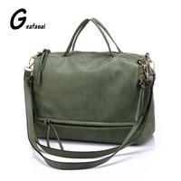 Get Coupon Green Gray Designer High Quality Brand Nubuck Leather Female Ladies Women Handbags Messenger Bag