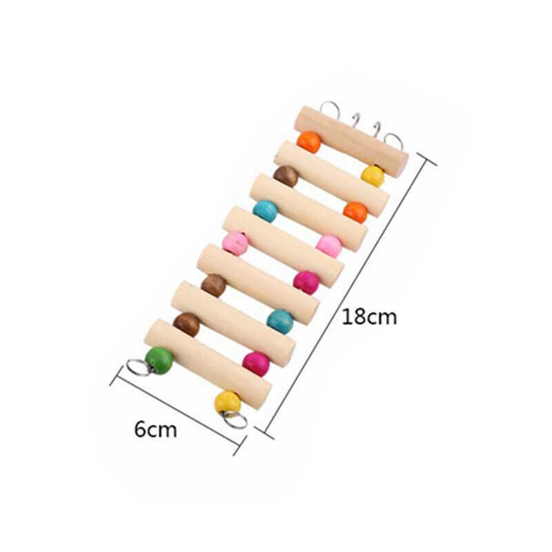 12 Вт/18/30 см деревянная подвесная лестница для попугая качели для птица Крыса, хомяк подняться инструмент 1 шт. Animal Bridge полка для игровых площадок