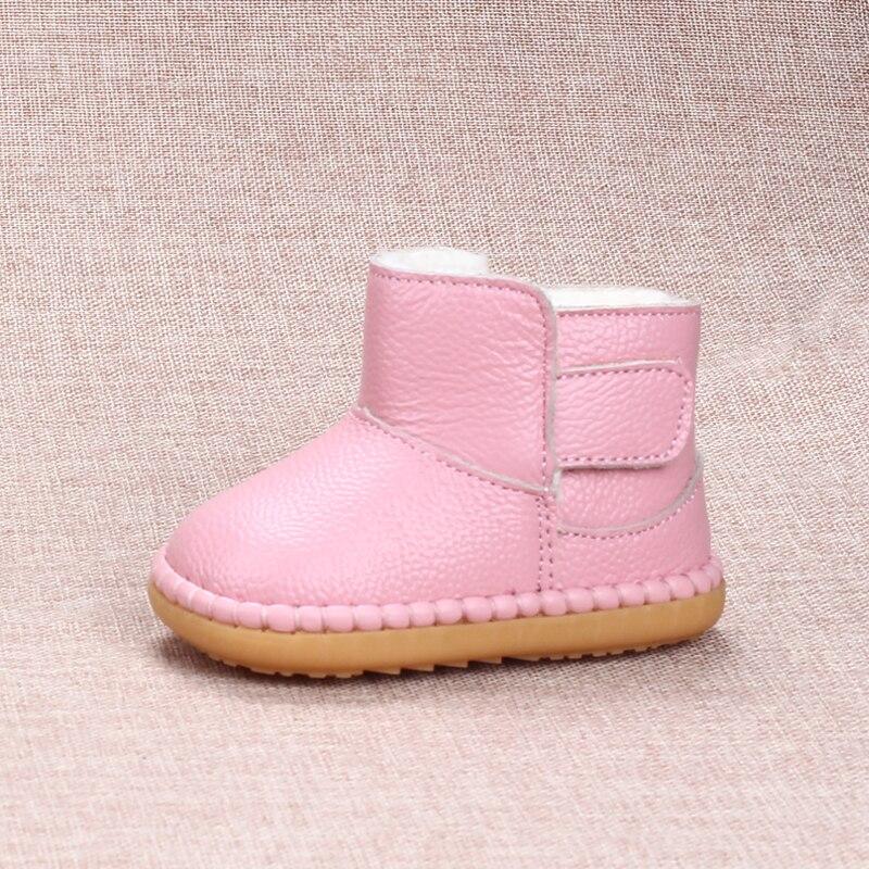 inverno criancas botas de neve macio vaca musculo sola da crianca sapatos 0 1 2 3