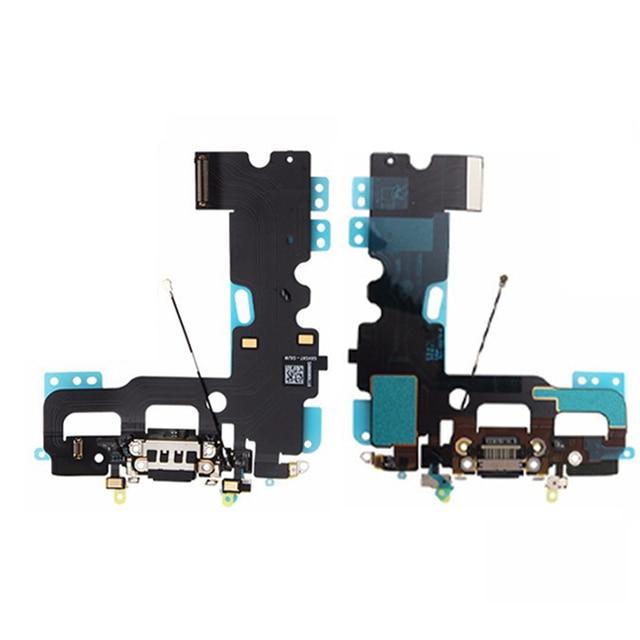 Novo 100% original carregador conector de carregamento porto doca usb flex cabo de dados para iphone 7 4.7 polegadas fita peças de reposição