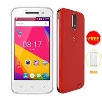 SERVO Spreadtrum7731C H1 4.5 polegada do telefone móvel Android 6.0 Quad núcleo Dual Sim smartphone 5.0MP celular GSM WCDMA telefone inteligente P065