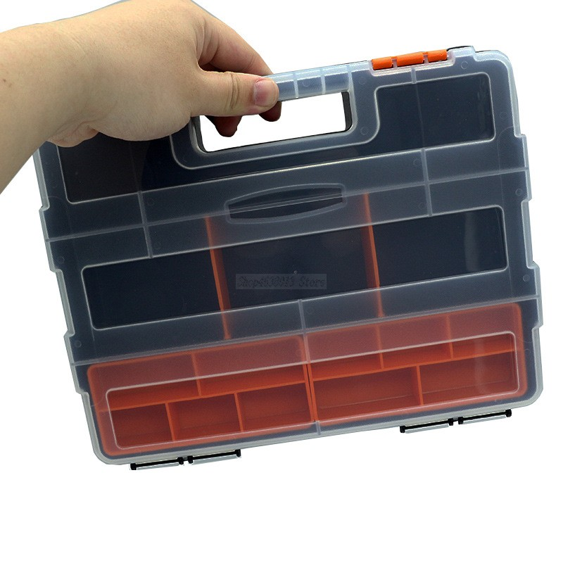 Portable Tool Box Electronic Plastic Parts Combined Tool Case Screw Containers Component Storage Case