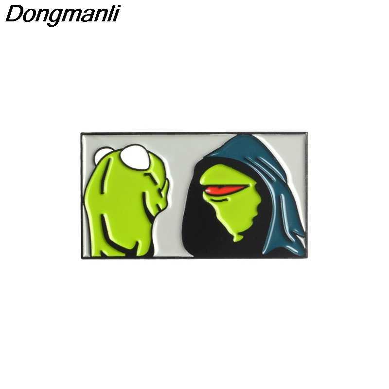 P3005 Dongmanli Kermit The Frog Esmalte Pins e Broches para Mulheres Dos Homens de Lapela Pin sacos mochila crachá Legal Presentes