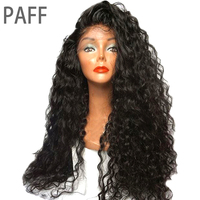 PAFF Full Lace Human Hair Wig Kinky Curly Brazilian Hair Free Part 250% Density Non Remy Wig With Pre Plucked Natural Hairline
