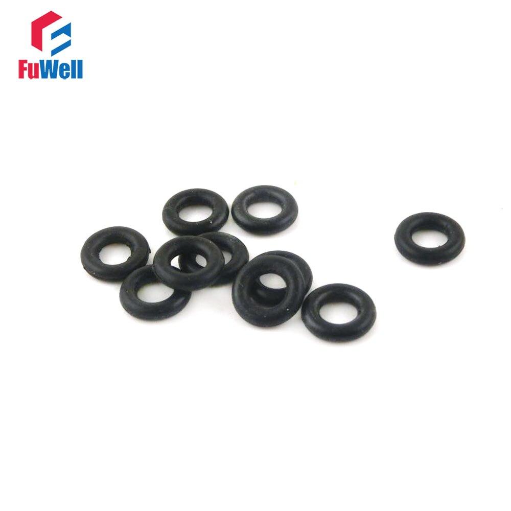 50 piezas 10 mm di/ámetro 1,5 mm grosor o-anillo de goma de nitrilo juntas de aceite