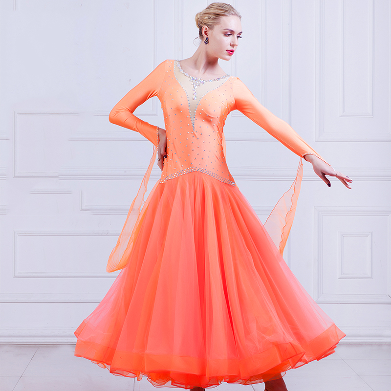 Ballroom Dance Competition Dresse Adulte Tango Waltz Standard Dance Dress Flamenco Dancing Costumes Modern Dance Clothing DN1262