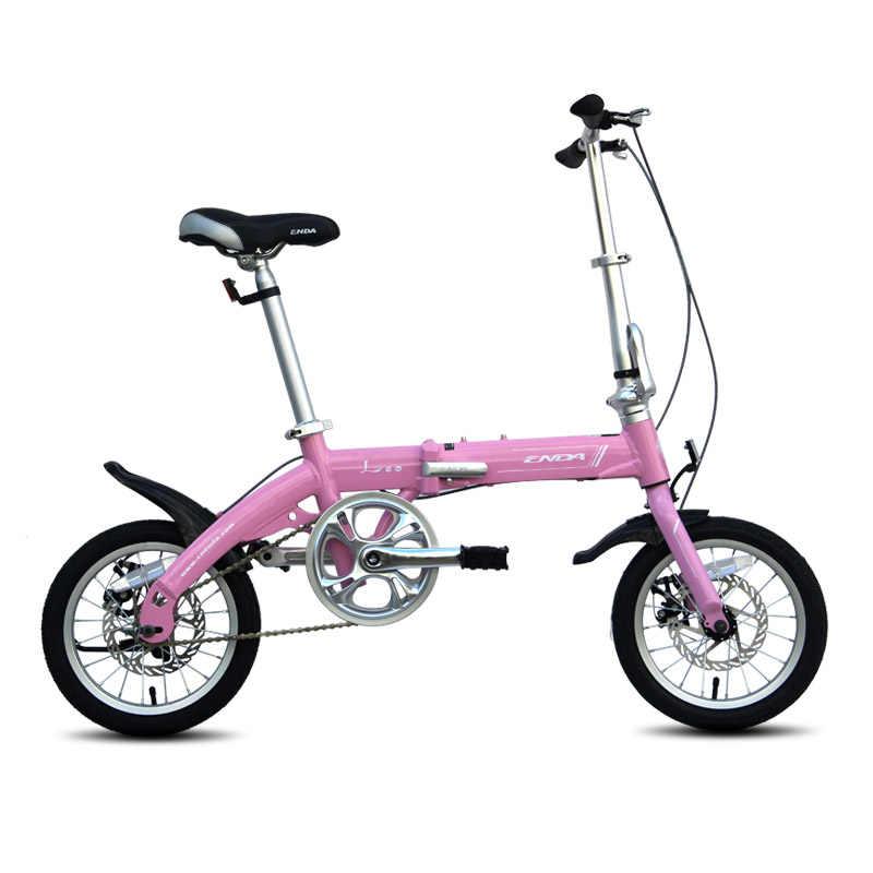 2016 14 дюймовый складной велосипедный светильник из алюминиевого сплава, велосипедный велосипед для молодежи с дисковым тормозом, студенческий велосипед