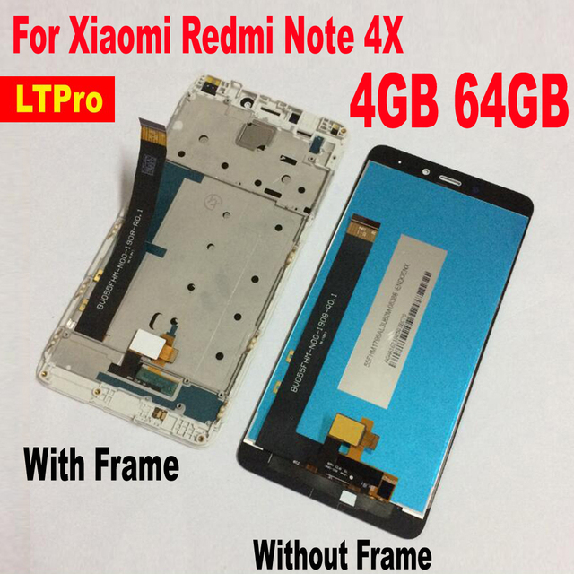 LTPro 5.5inch LCD Display Panel Touch Screen Digitizer Assembly with frame For Xiaomi Redmi Note 4X Pro 4GB 64GB Phone parts