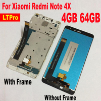 5 5inch LCD Display Panel Touch Screen Digitizer Assembly With Frame For Xiaomi Redmi Note 4X