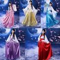 Женская Древний Династии Тан Императрица Платье Традиционный Hanfu Косплей Одежда Красный Белый Желтый Женщины Китайский Древний Костюм