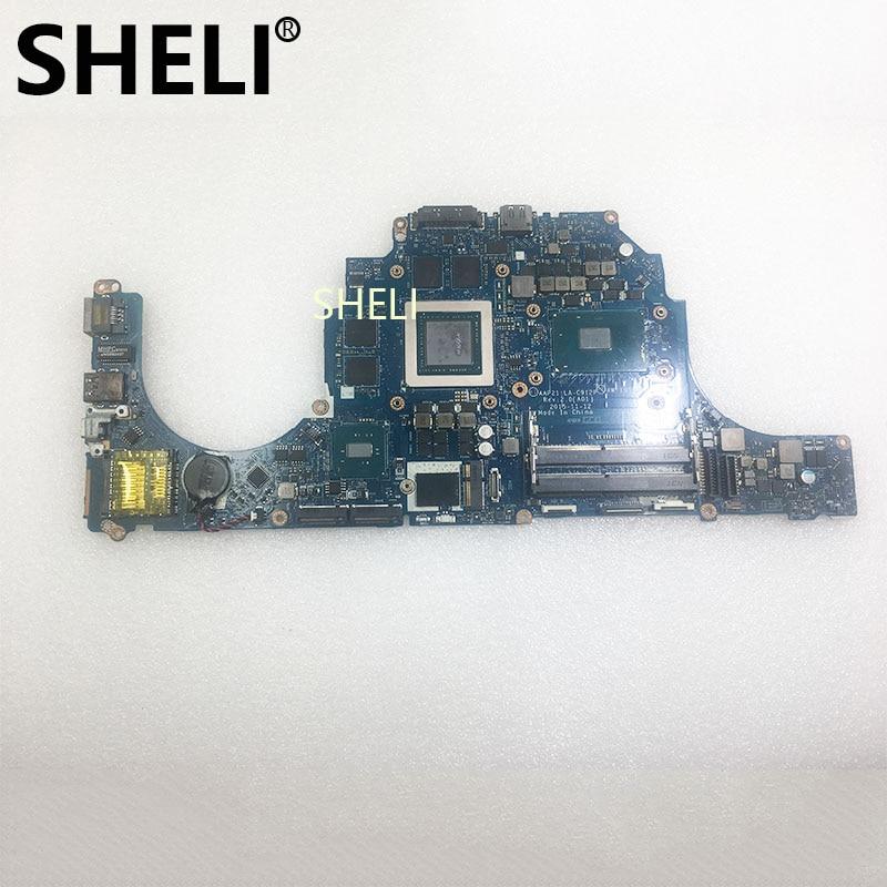 SHELI For Dell Alienware 17 R3 15 R2 Laptop Motherboard Notebook Pc With I7-6700HQ GTX980M 8GB LA-C912P W15RD CN-0W15RD Test Ok