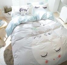Character bear bedding set adult teen kid,cotton full queen cute cartoon double home textile flat sheet pillow cases duvet cover