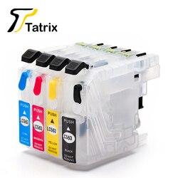 Tatrix dla brata LC563 kartridż na tusz do ponownego napełniania dla brata MFC-J2310 MFC-J2510 MFC-J3520 MFC-J3720 drukarki