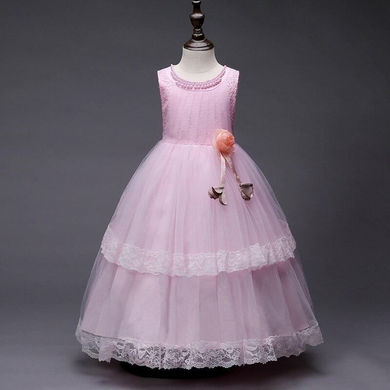It's YiiYa   Flower     Girl     Dresses   5 Colors Sleeveless O-Neck Floor Length   Girls   Pageant   Dresses   Vestidos De Noches Para Ninas 3001