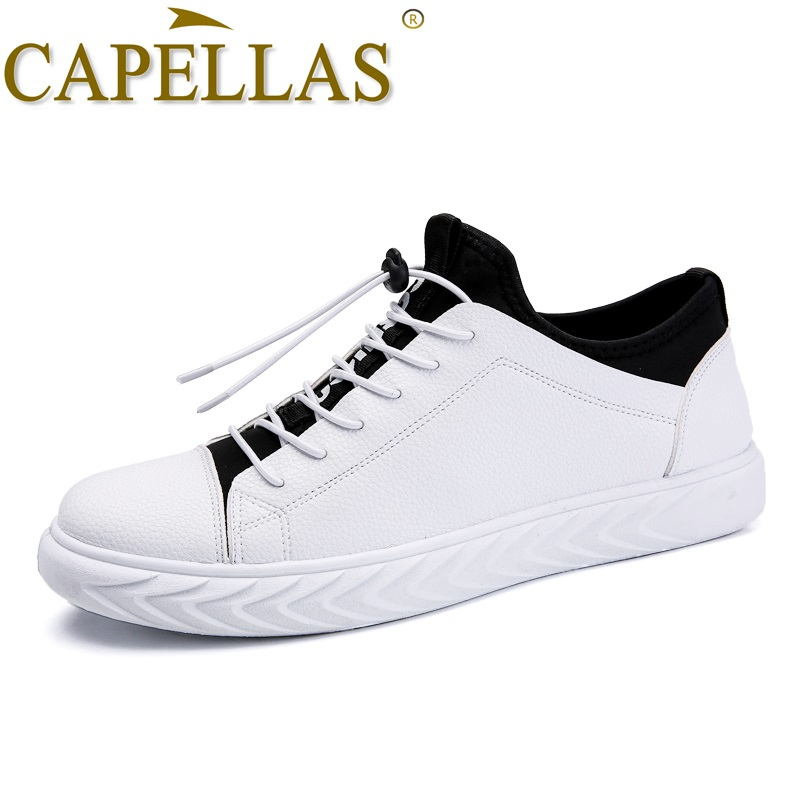 CAPELLAS New Men Leather Shoes Mens Fashion Casual Shoes Breathable Sport Designer Men`s ...