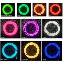 1m 2m 3m 4m 5m Neon işık EL tel 3 modları 10 renkler LED şerit işık ile kontrol için araba dans parti bisiklet dekorasyon ışıklandırma
