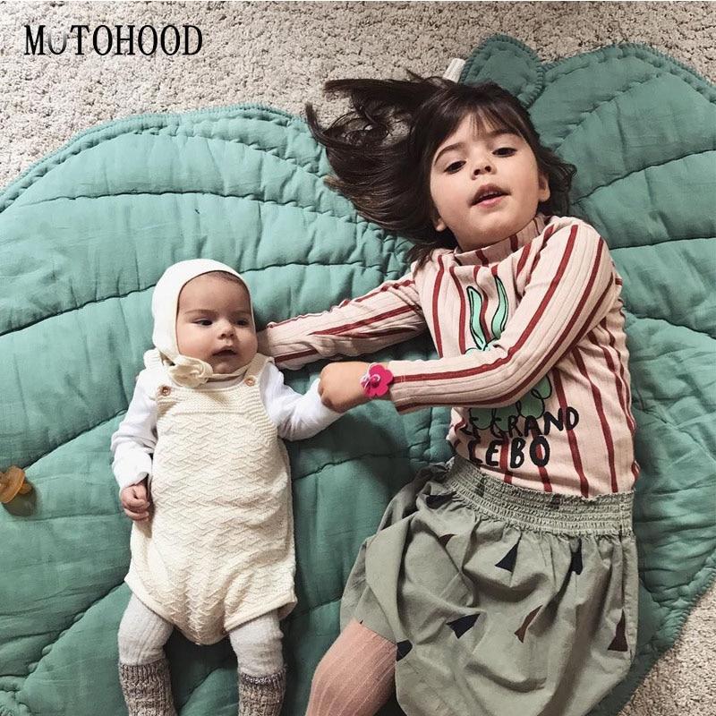 MOTOHOOD Leaf Shape Baby Play Mat Cartoon Baby Infant Creeping Mat Playmat Blanket Play Game Mat Innrech Market.com