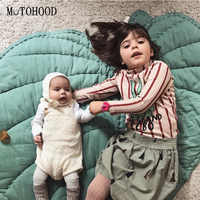 MOTOHOOD Leaf Shape Baby Play Mat Cartoon Baby Infant Creeping Mat Playmat Blanket Play Game Mat Room Decoration 110cm