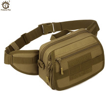Military Tactical MOLLE Waist BagsNylon Waterproof  Shoulder Messenger Bag Camouflage Travel Equipment Belt