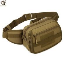 Military Tactical MOLLE Waist BagsNylon Waterproof  Shoulder Messenger Bag Camouflage Travel Equipment Tactical Belt Bag цена