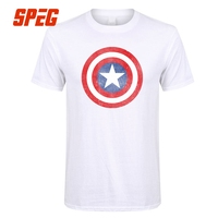 c78580da3 Printed Clothing T Shirt Captain America Marvel Shield Distressed Adult  Round Collar Short Sleeve Tees Shirt