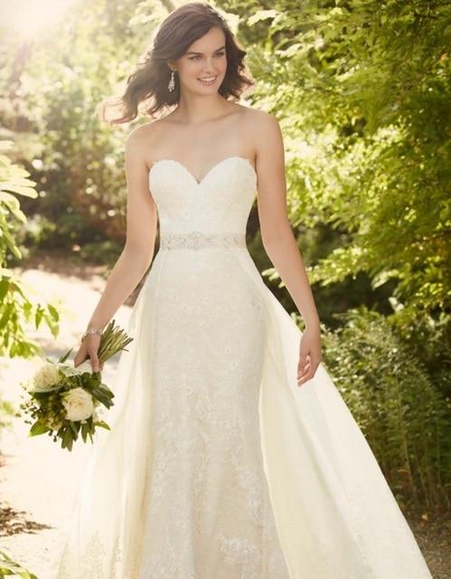 822d79cb680d Detachable Tulle and Organza Overskirt Wedding Dresses 2016 Robe De ...