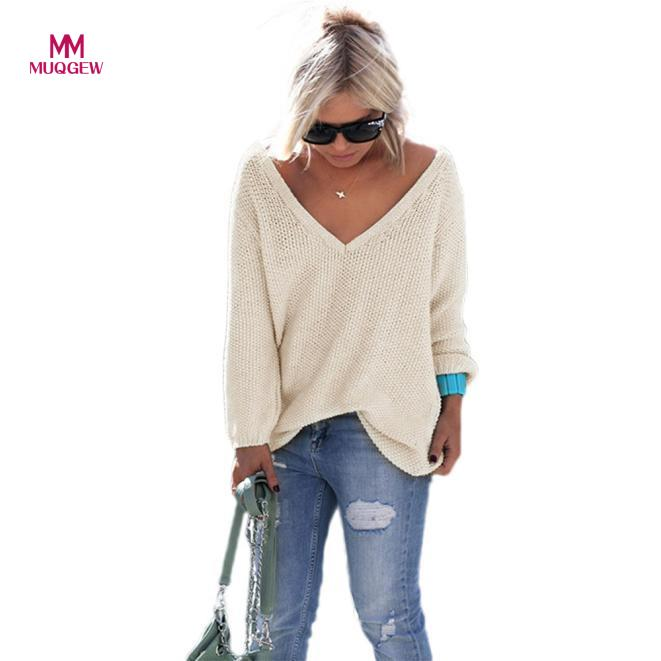 NewHigh Recommend Women Long Sleeve Knitted Pullover Loose Sweater Jumper Tops Knitwear winter coat women mujer invierno