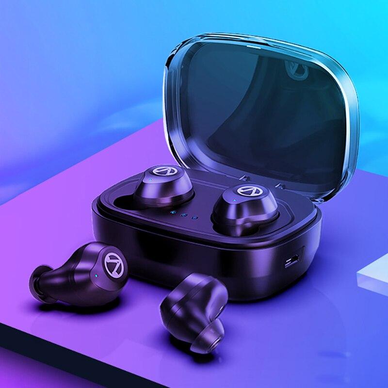 TWS Bluetooth V5.0 Earphone True Wireless Stereo Earbuds Heradse Touch Control Waterproof Headphones with Charging Case 1600mAhTWS Bluetooth V5.0 Earphone True Wireless Stereo Earbuds Heradse Touch Control Waterproof Headphones with Charging Case 1600mAh
