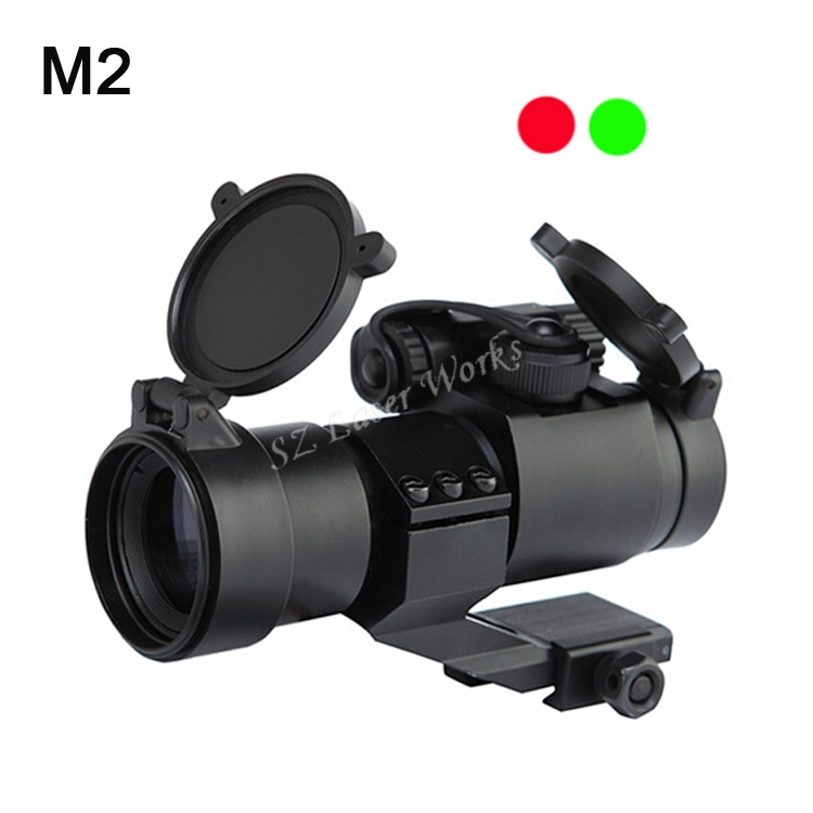 1x22 optical Dual illumination red and green dot sight scope with 20mm Rails for hunting rifle Free Shipping