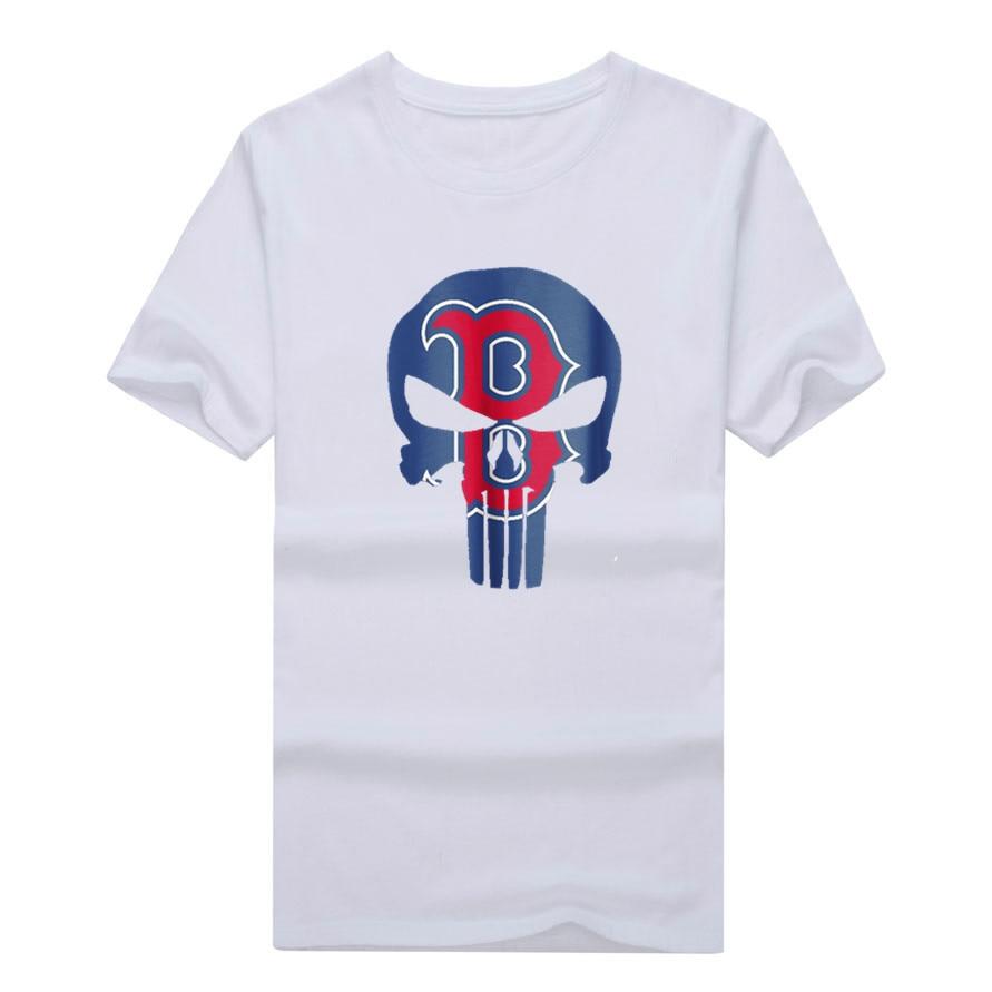 2017 Men 39 S Tops Tees Popular Boston Cool Skull Fan T Shirt