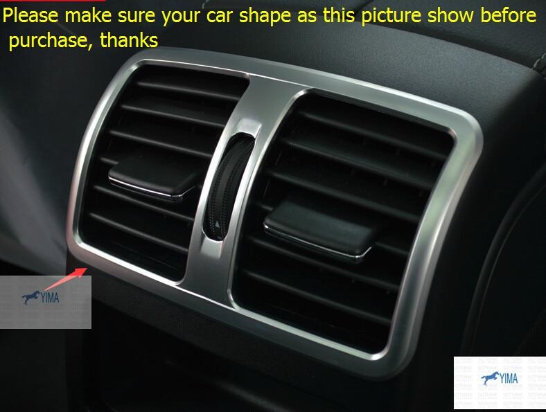 Lapetus Accessories Interior Rear Armrest Box Air Condition Vent Outlet Cover Trim For Mercedes Benz GLK 260 300 350 2013 2014