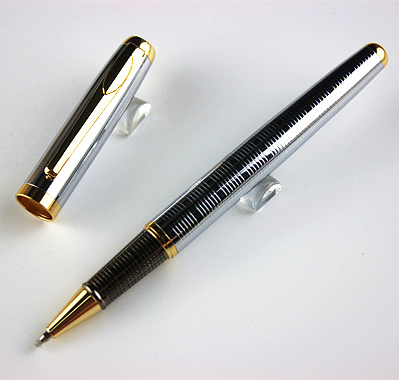 Luxury Clic Roller Ball Pen Super Design Silver Office Supply Writing Whole Gel In Ballpoint Pens From School Supplies On
