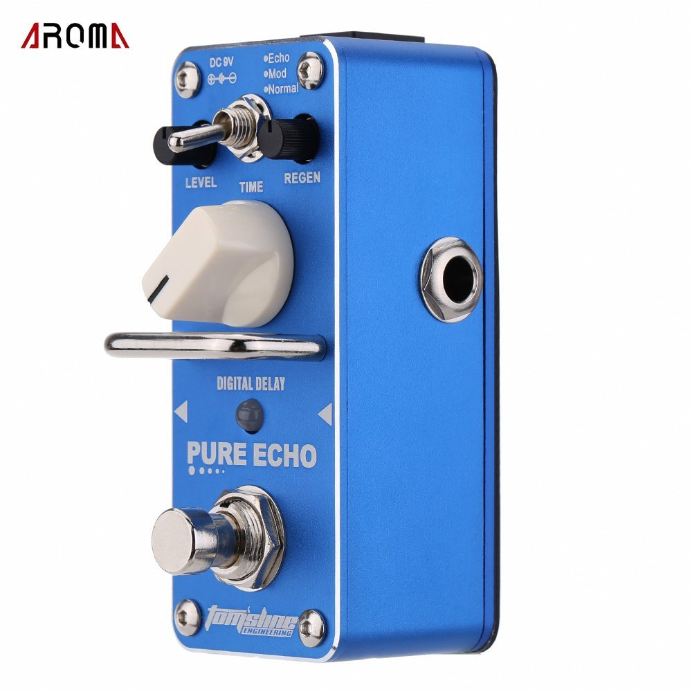 AROMA APE-3 Guitar Effect Pedal Pure Echo Digital Delay Electric Guitar Effect Pedal Mini Single Effect with True Bypass aroma aov 3 ocean verb digital reverb electric guitar effect pedal mini single effect with true bypass guitar parts