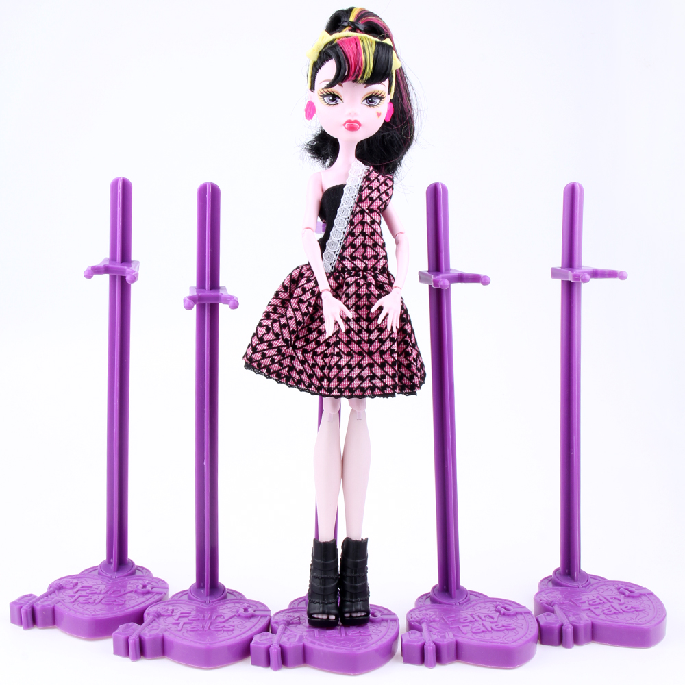 A Lot = 10 pcs Dolls Stand Display Holder Purple Pink Blue For Wizard Dolls / Wizard Dolls Dolls Accessories