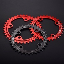 FMF Aluminum Alloy BCD 104mm Chainwheel 32/34/36/38T Red Round Bike Chain Ring Bicycle Crankset Replacement
