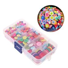 Wholesale Pricing 500Pcs Round Resin Buttons 2 Holes Mini Sewing Tools Scrapbooking Decorative Clothing Apparel DIY Mixed Sizes