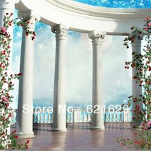 Pillars building 8'x8′ CP Computer-painted Scenic Photography Background Photo Studio Backdrop DT-XU-0049
