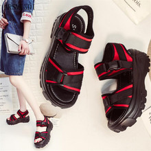 ARSMUNDI Fashion Women Summer Sandals Wedges Thick Bottom Platform Slippers Ladies Walking Shoes Zapatillas Sandalia M434