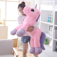 Giant 80cm Unicorn Plush Toy Soft Stuffed Popular Cartoon Unicorn Dolls Animal Horse Toy High Quality Toys for Children Girls