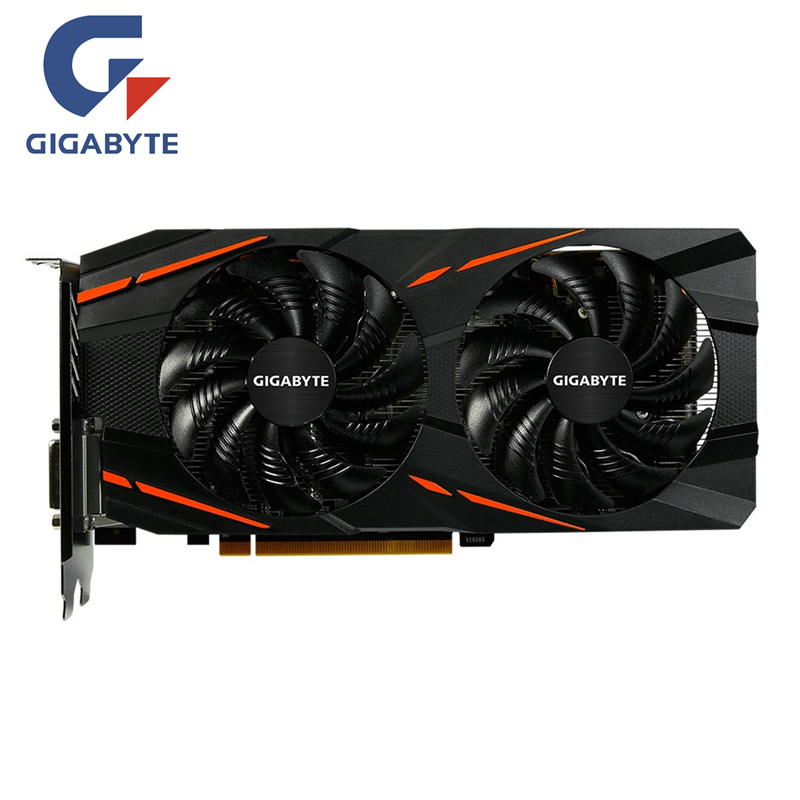 GIGABYTE RX 570 4GB Gaming GPU Video Card Radeon RX570 Gaming 4G Graphics Cards For AMD Video Cards Map HDMI PCI-E X16
