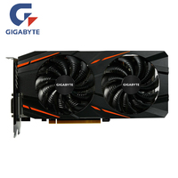 GIGABYTE RX 570 4GB Gaming GPU Video Card Radeon RX570 Gaming 4G Graphics Cards For AMD Video Cards Map HDMI PCI E X16