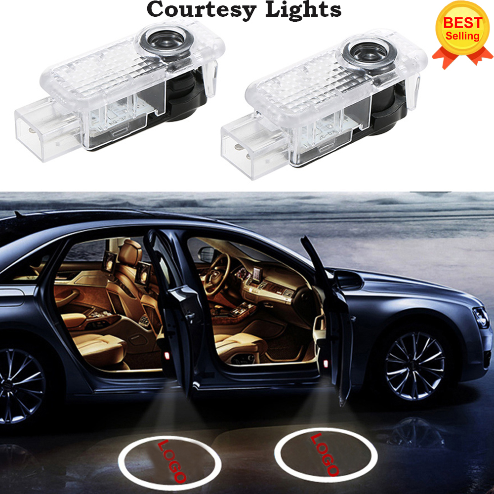 2x Für AUDI Auto Tür LED KREIS Schattenlicht des geistes Audi Logo Projektor Innenbeleuchtung Auto Hintergrundbeleuchtung Auto Styling Willkommen licht