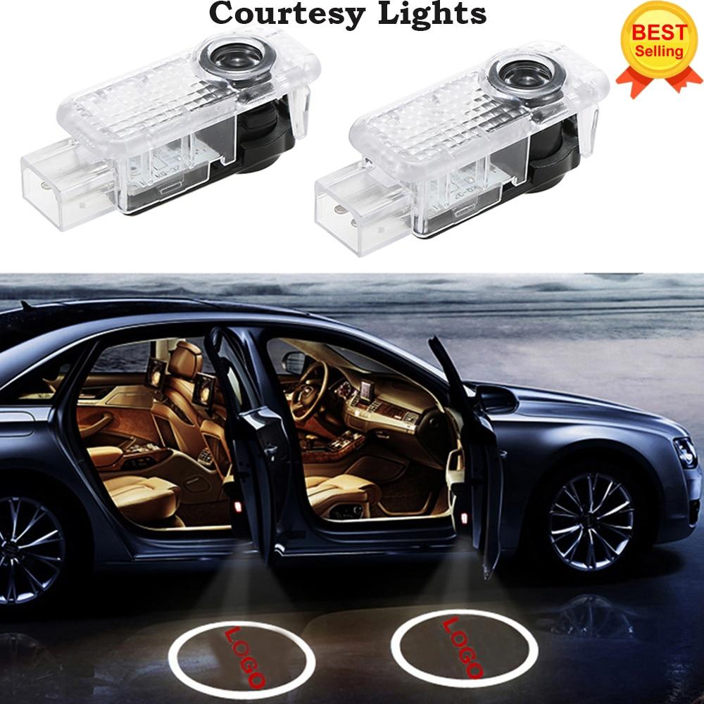 2x Per AUDI Auto Porta CERCHIO LED Luce Dell'ombra del Fantasma Audi Logo Proiettore Luci di Cortesia Auto Retroilluminazione Stile Auto di Benvenuto luce
