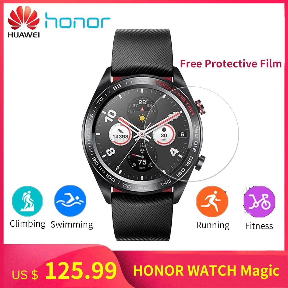 "ES/DE In Stock Huawei Honor Smart Watch Magic Outdoor GPS Smart Watch Men 5ATM Waterproof 1.2"" AMOLED Screen Heartrate Monitor-in Smart Watches from Consumer Electronics    1"