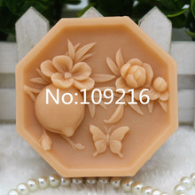 New Product!! 1pcs Peach (ZX291) Food Grade Silicone Handmade Soap Mold Crafts DIY Silicone Mould