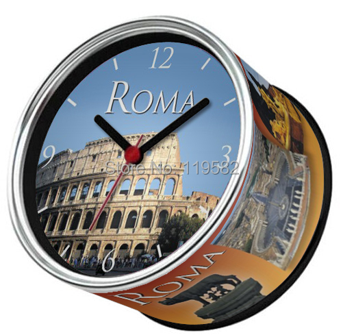 Free Shipping Travel Souvenir Gifts Clocks Famous Roma City Design Kitchen Fridge Magnets Wall Metal